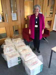 Mrs Lewis is pleased to accept Krispy Kremes for St Mary's Pupils from PTA